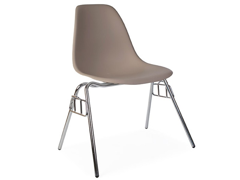 Image of the design chair DSS Eames chair stackable - Beige grey