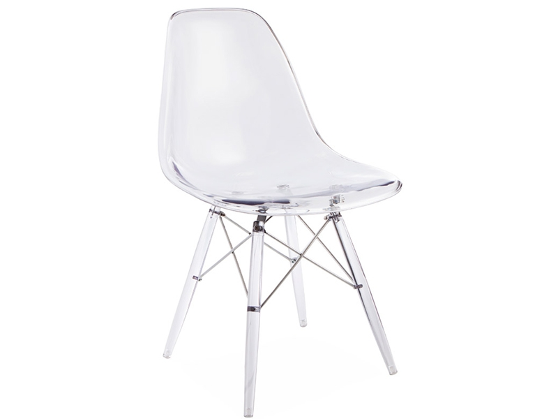 Image of the design chair DSW chair All Ghost - Clear