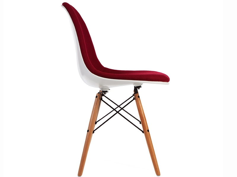 Image of the design chair DSW chair wool padded - Red