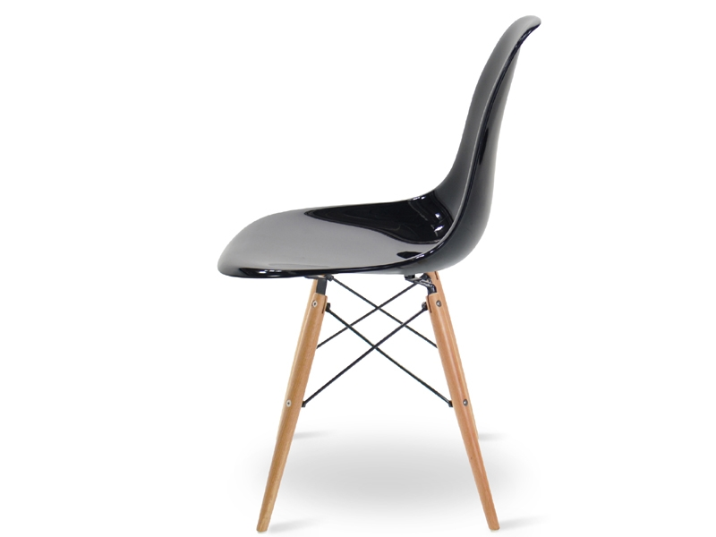 Image of the design chair DSW Eames chair - Black shiny