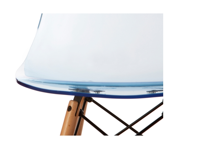 Image of the design chair DSW Eames chair - Clear blue