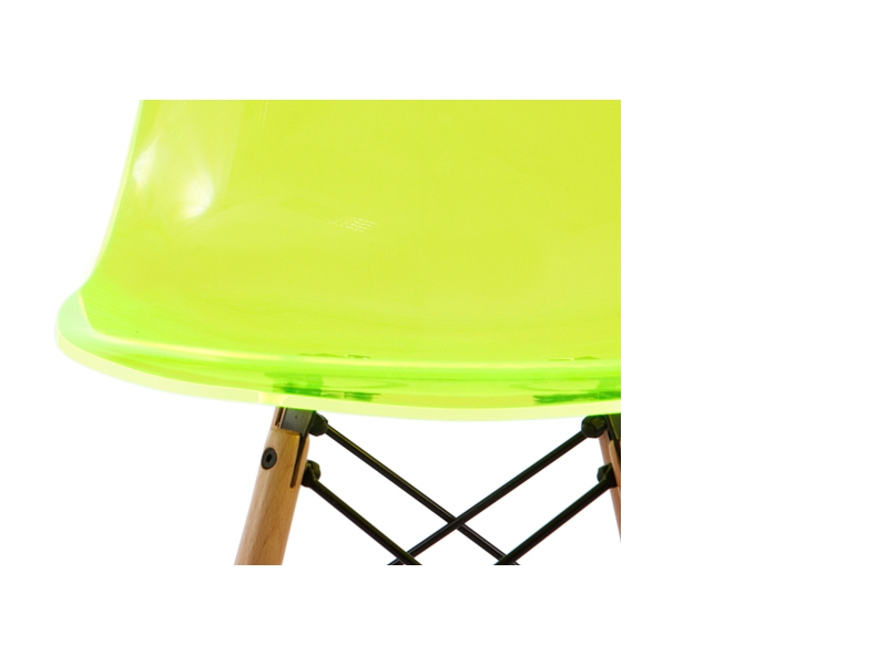 Image of the design chair DSW Eames chair - Clear green