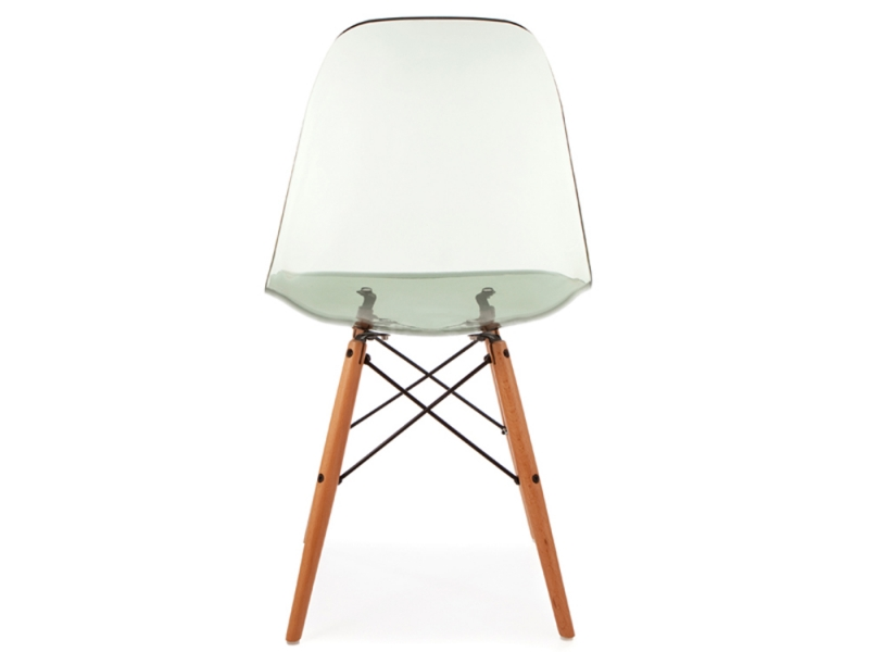 Image of the design chair DSW Eames chair - Clear grey
