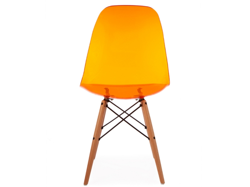 Image of the design chair DSW Eames chair - Clear orange