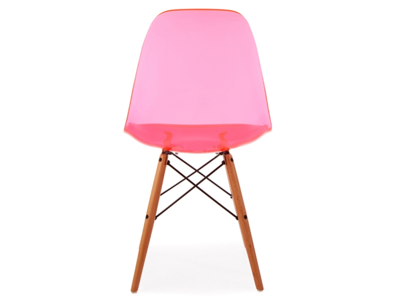 Image of the design chair DSW Eames chair - Clear pink