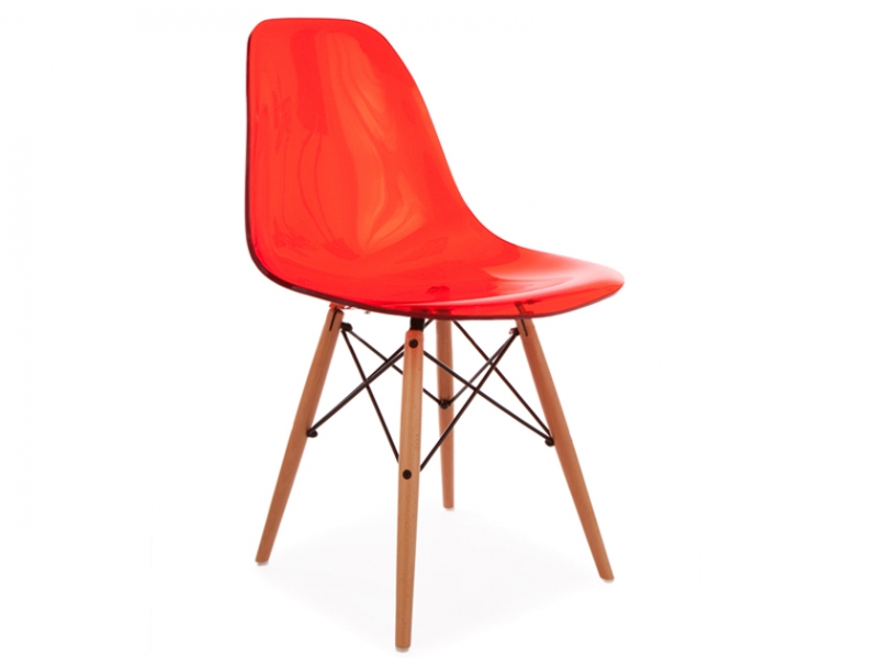 Image of the design chair DSW Eames chair - Clear red