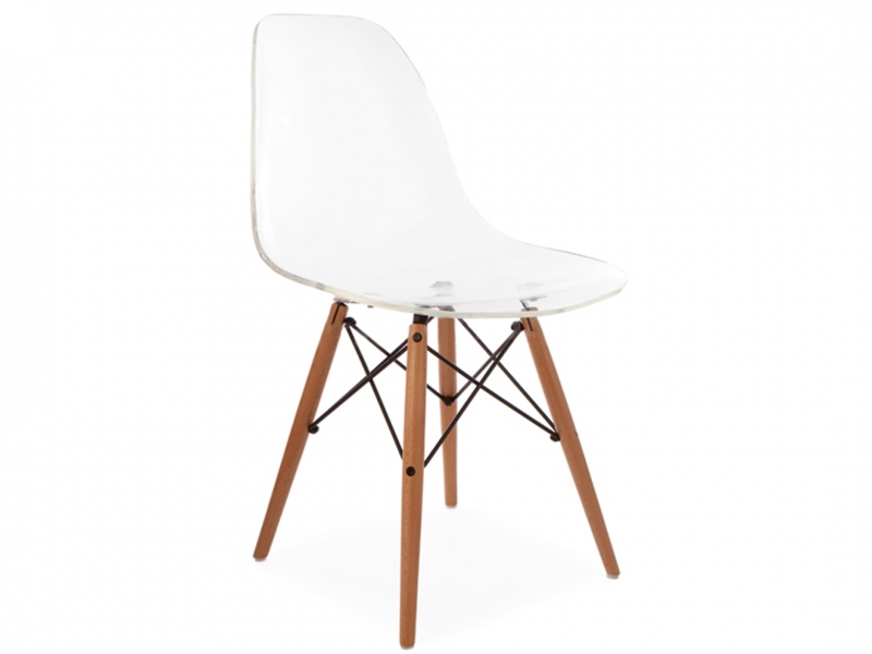 Image of the design chair DSW Eames chair - Clear