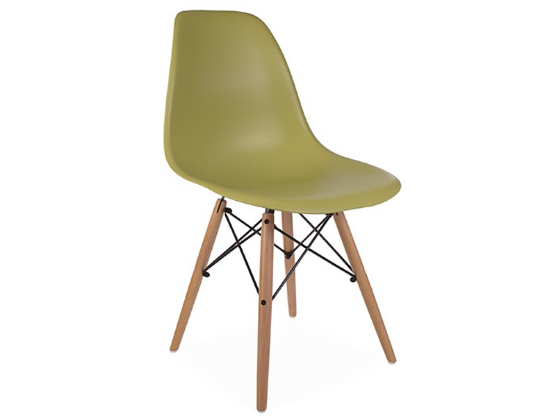 Image of the design chair DSW Eames chair - Green mustard