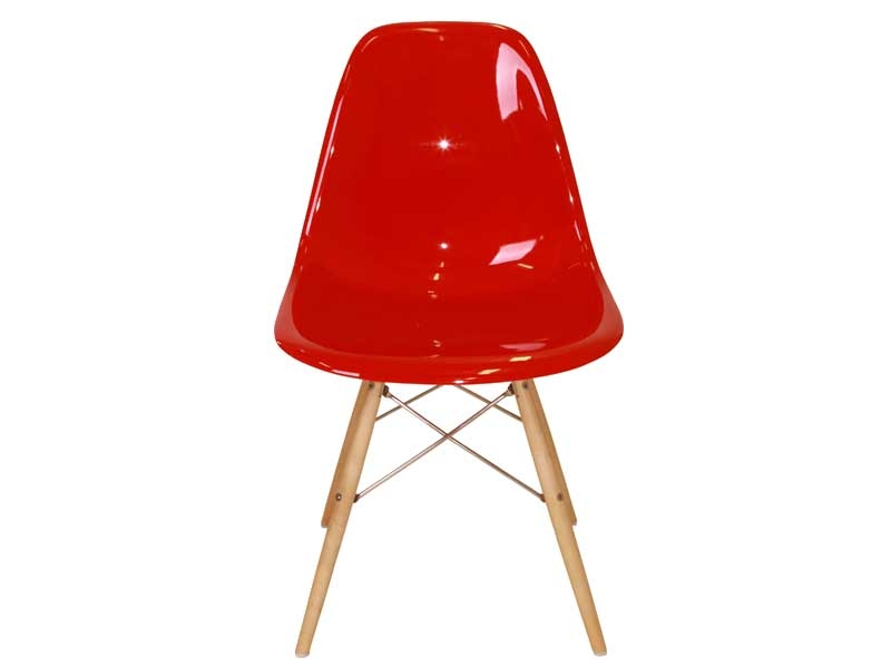Image of the design chair DSW Eames chair - Red shiny