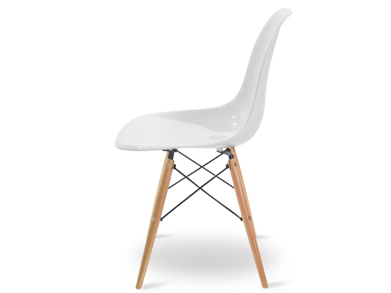 Image of the design chair DSW Eames chair - White shiny