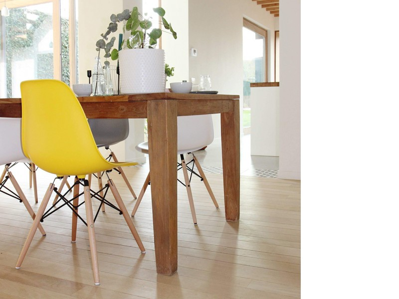Image of the design chair DSW Eames chair - Yellow lemon