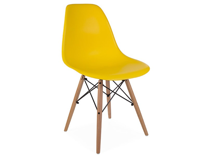 Image of the design chair DSW Eames chair - Yellow mustard