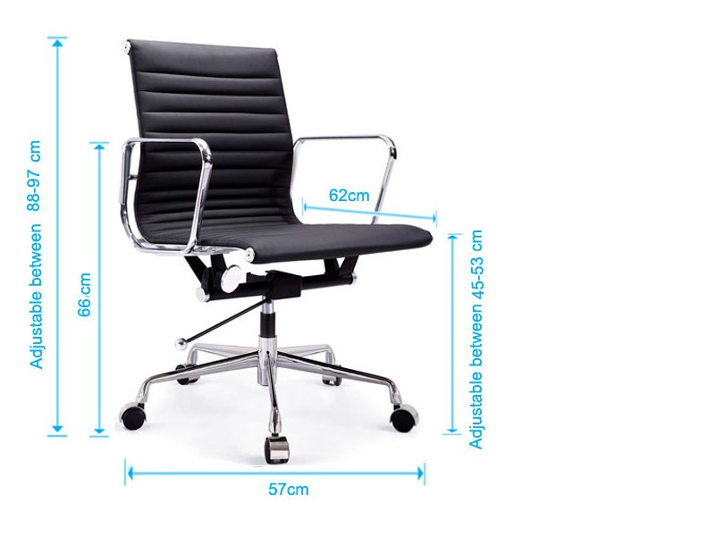 Image of the design chair Eames chair Alu EA117 - Sky blue