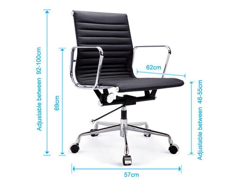 eames chair alu ea117 white