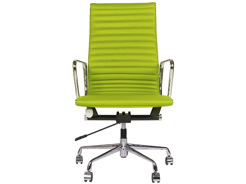 Image of the design chair Eames chair Alu EA119 - Apple green