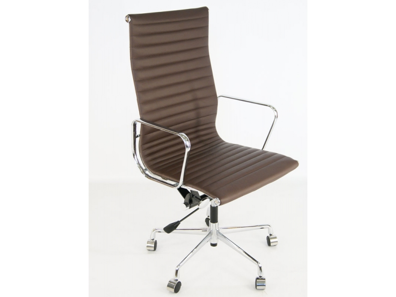 Image of the design chair Eames chair Alu EA119 - Dark brown