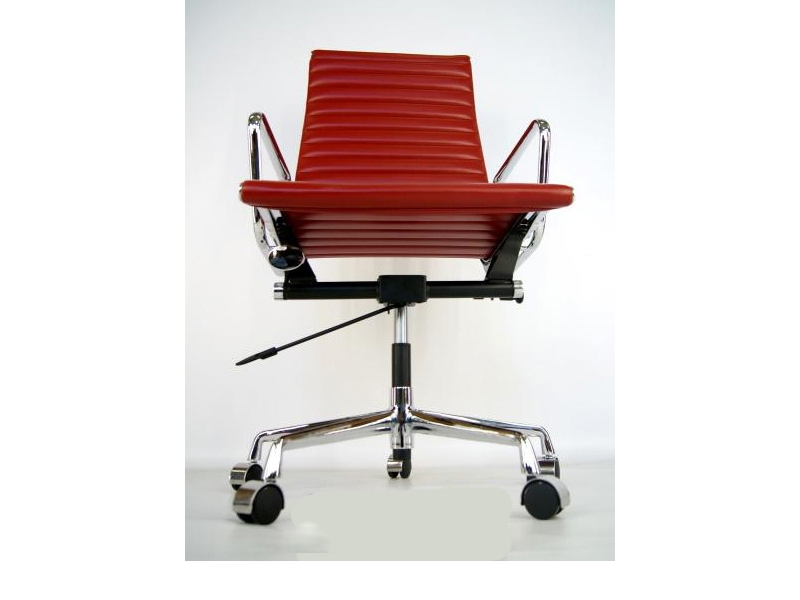 Image of the design chair Eames chair Alu EA119 - Dark red