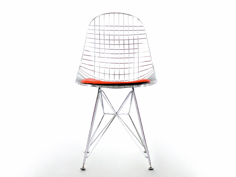 Image of the design chair Eames DKR chair - Red