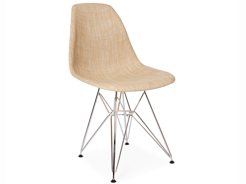 Image of the design chair Eames DSR chair Weave - Beige