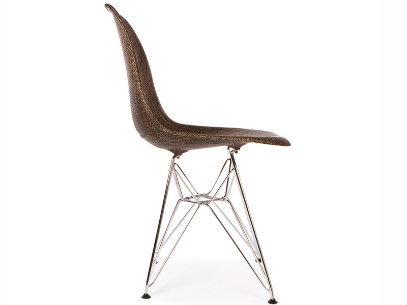Image of the design chair Eames DSR chair Weave - Cocoa