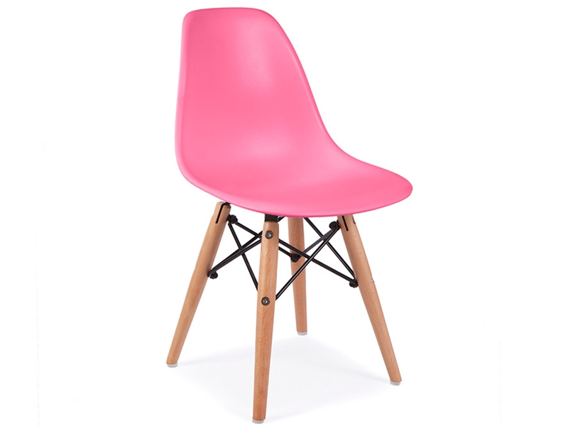 Image of the design chair Eames kids table - 4 DSW chairs