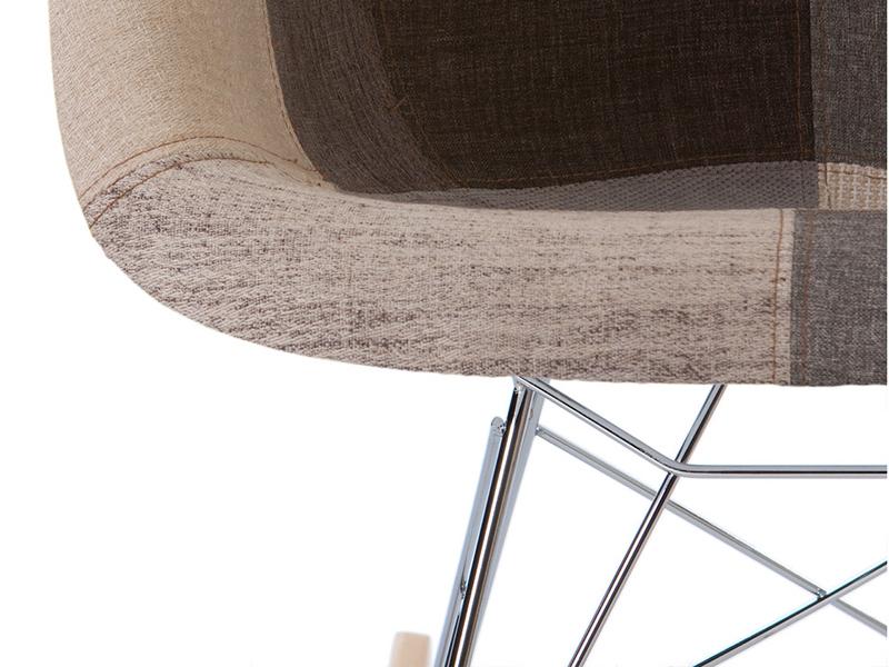 eames rocking chair rar blue patchwork. Black Bedroom Furniture Sets. Home Design Ideas