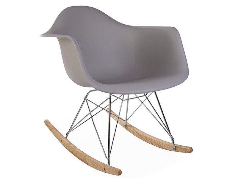 Image of the design chair Eames rocking chair RAR - Mouse grey
