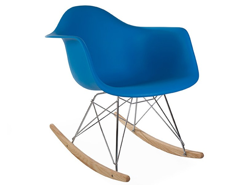 Image of the design chair Eames Rocking Chair  RAR - Ocean blue