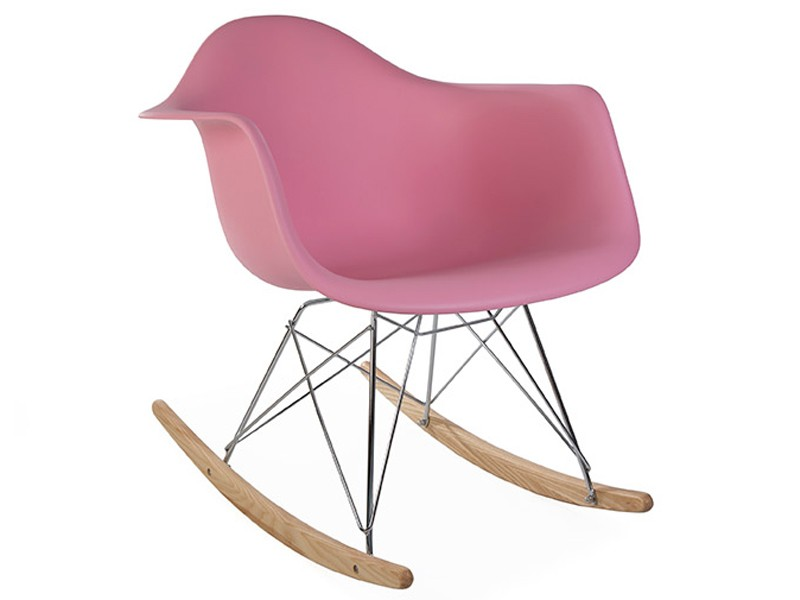 Image of the design chair Eames rocking chair RAR - Pink