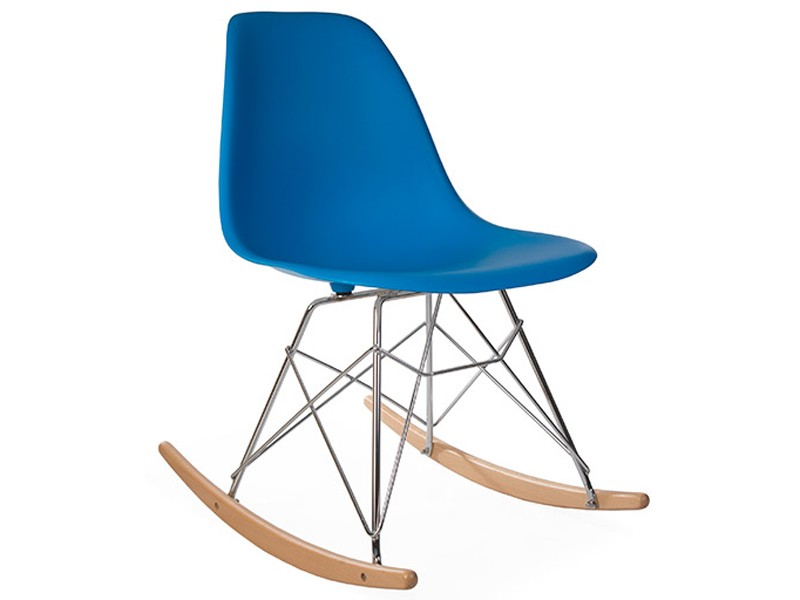 Image of the design chair Eames Rocking Chair RSR - Ocean blue