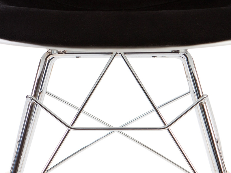 Image of the design chair Eames RSR Wool Padded - Black