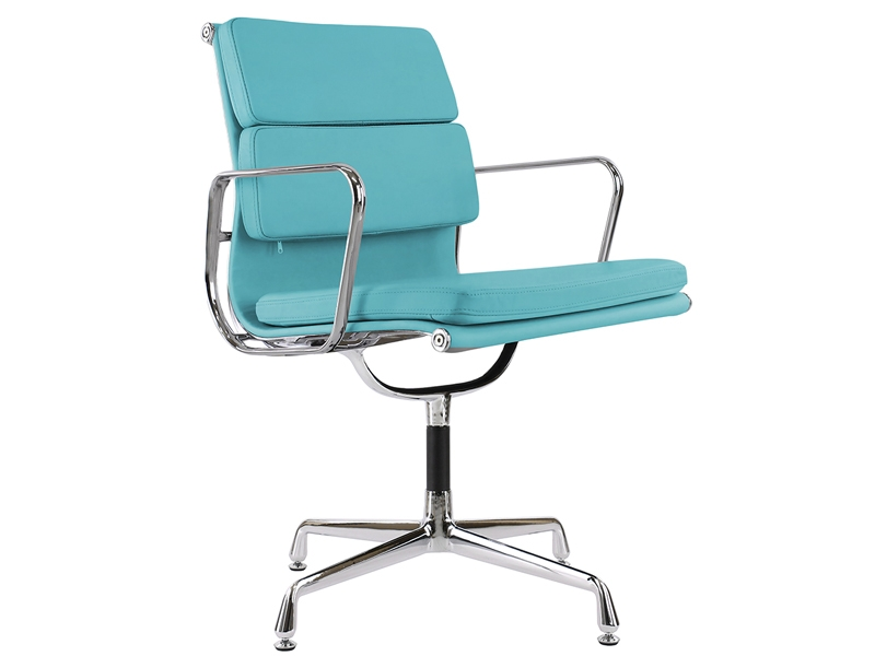 Image of the design chair Eames Soft Pad EA208 - Blue