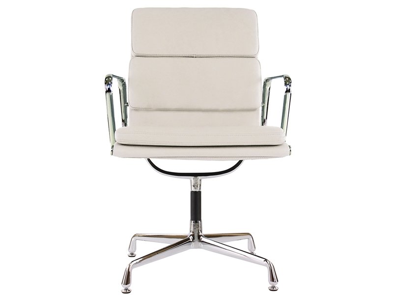 Image of the design chair Eames Soft Pad EA208 - Ivory white