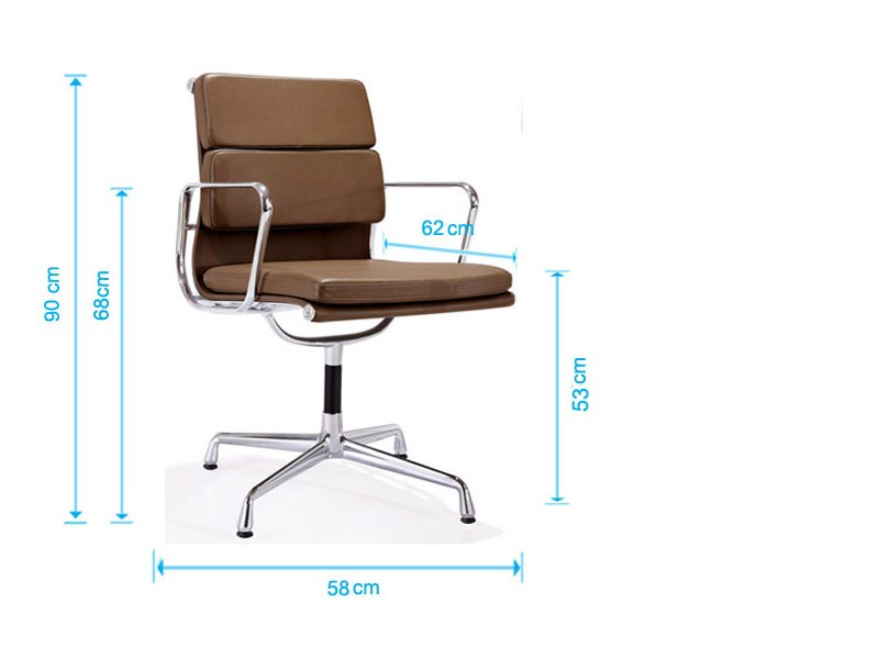 Image of the design chair Eames Soft Pad EA208 - Light grey