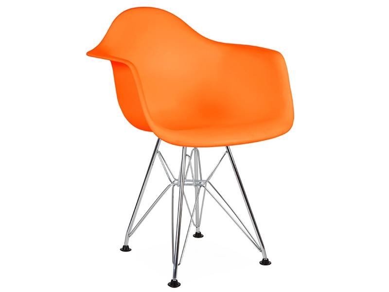 Kids chair eames dar orange for Orange kids chair