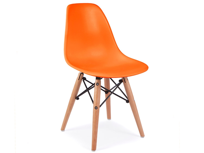 Kids chair eames dsw orange for Eames chaise enfant