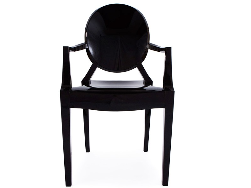 Image of the design chair Louis Ghost Arm Chair - Black