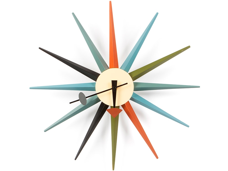mural clock starburst george nelson. Black Bedroom Furniture Sets. Home Design Ideas