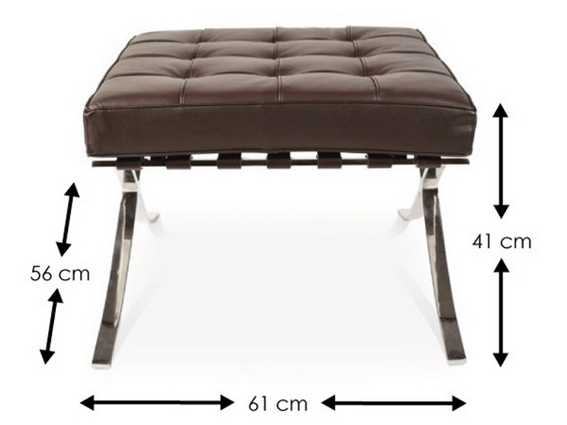 Image of the design chair Ottoman Barcelona - Dark brown