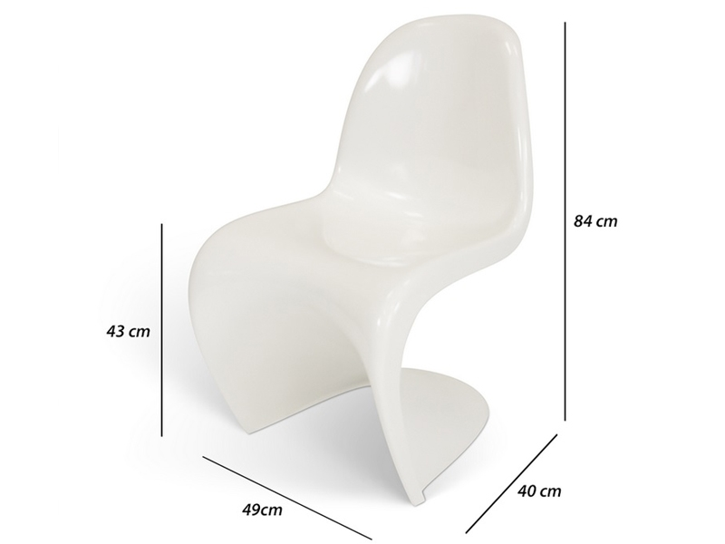 Image of the design chair Panton chair - Shiny white