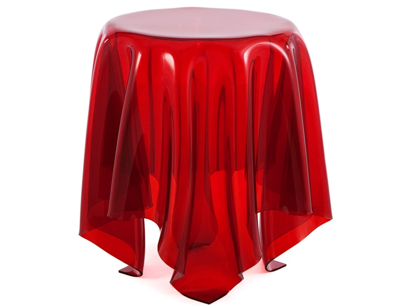 Image of the design chair Side table Illusion - Red