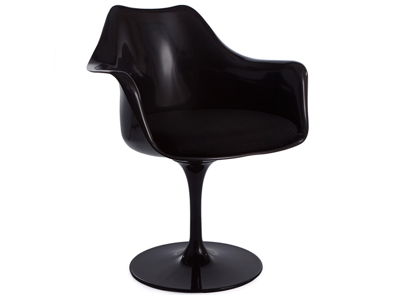 Image of the design chair Tulip armchair Saarinen - Black