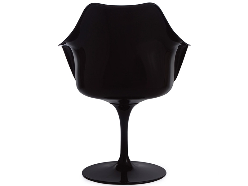 Image of the design chair Tulip armchair Saarinen - Black