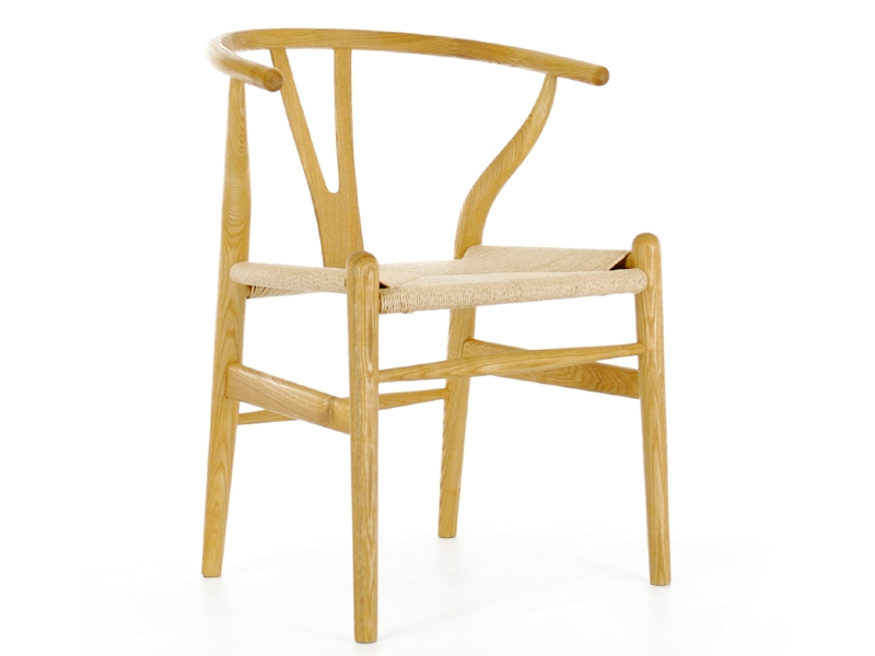 Image of the design chair Wegner Chair Wishbone CH 24 - Natural
