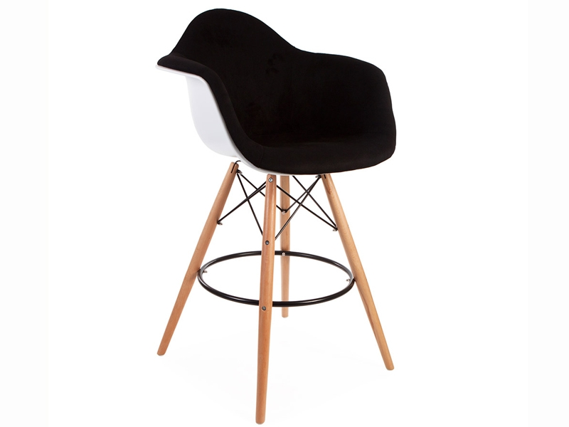 Image of the design chair Wool padded DAB bar chair - Black