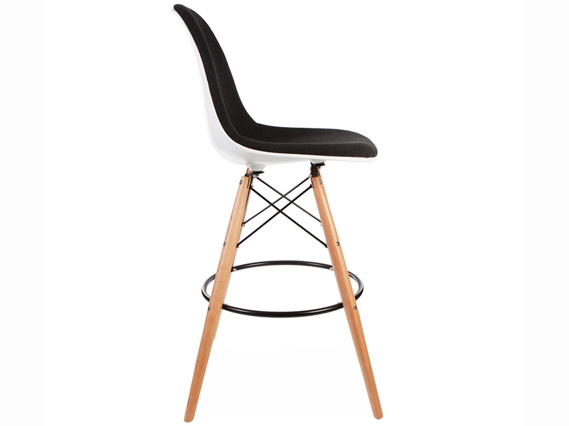 Image of the design chair Wool padded DSB bar chair - Grey
