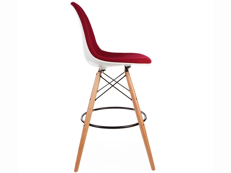 Image of the design chair Wool padded DSB bar chair - Red