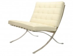 Image of the design chair Barcelona chair - Cream White