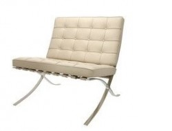 Image of the design chair Barcelona chair - Grey Beige