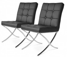 Image of the design chair Barcelona Dining chair - Black (2 Chairs)